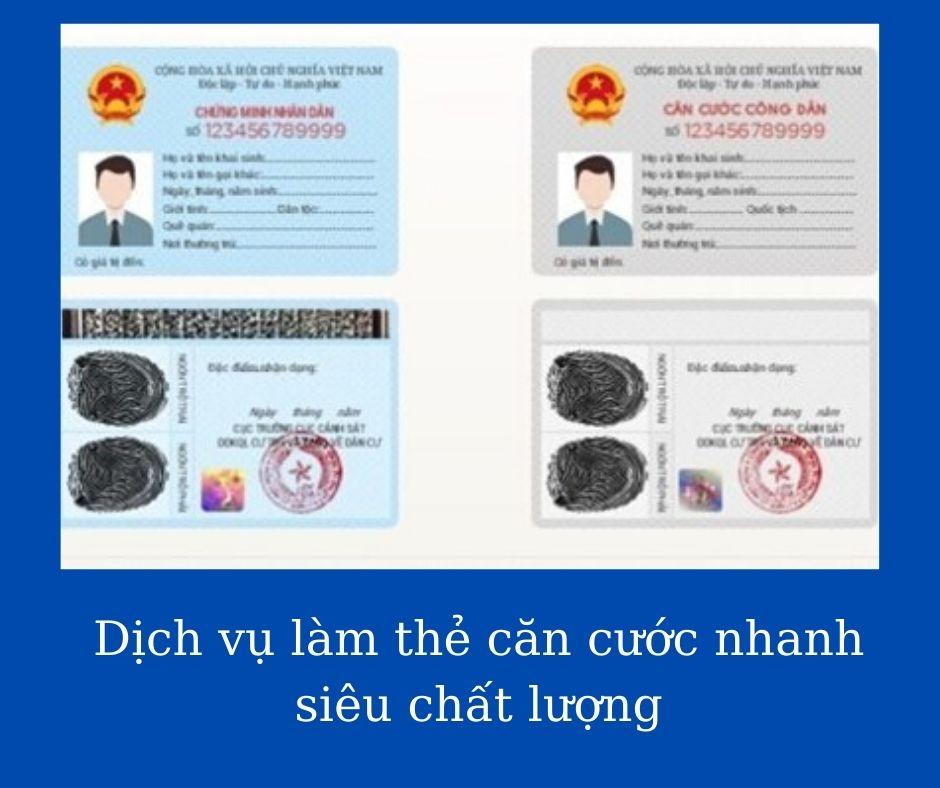 Dịch vụ làm thẻ căn cước nhanh siêu chất lượng