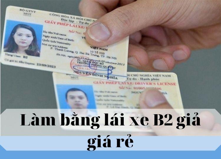 làm bằng lái xe B2 không cần thi