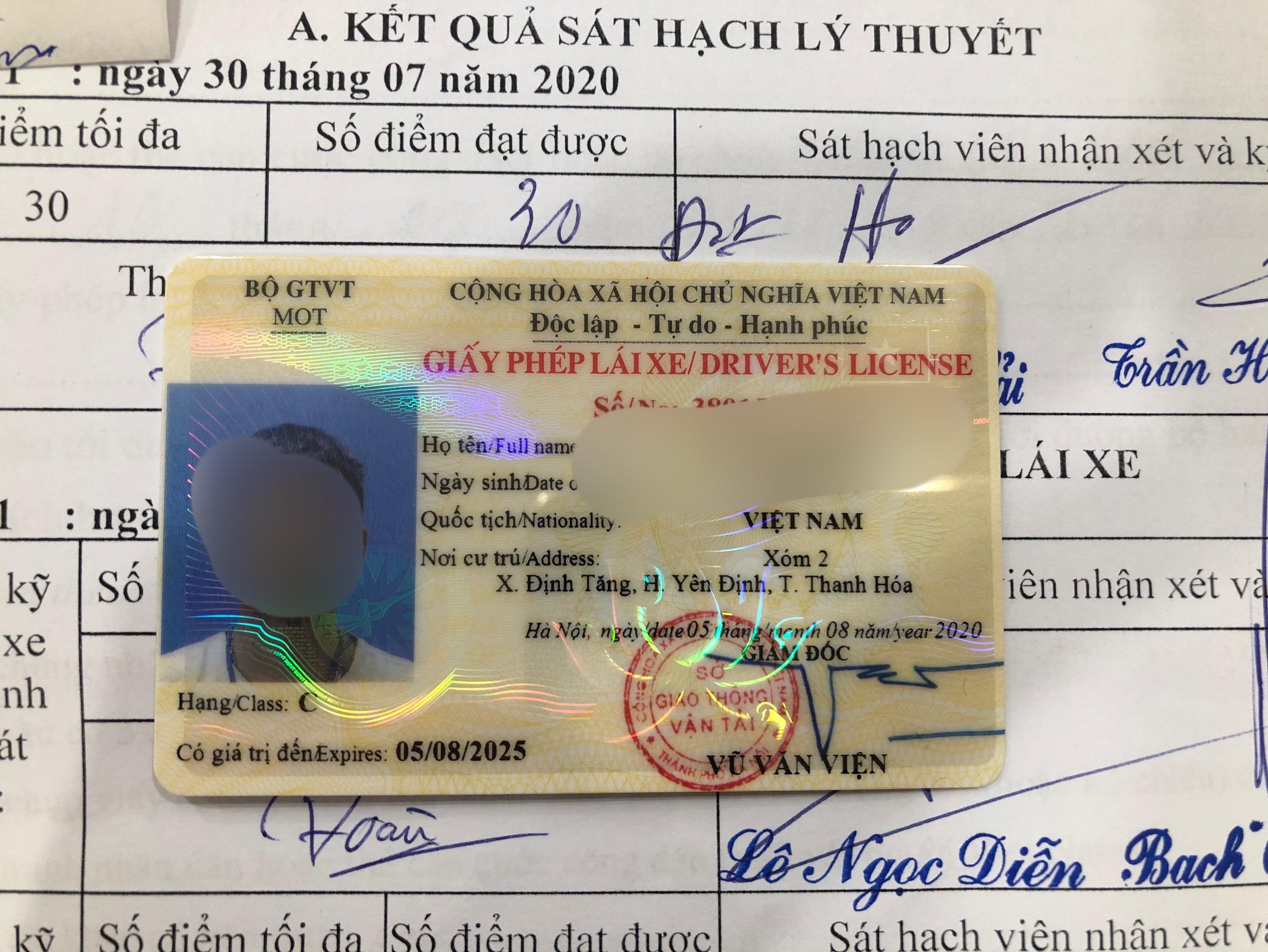 Thủ tục làm bằng lái xe B2 không cần thi
